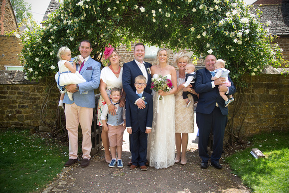 brides and groom with brides family