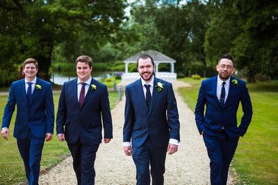 Groom and groomsmen before the bride arrives