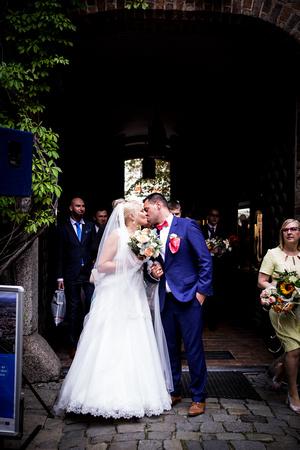 bride and groom walking