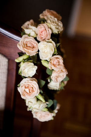 bridal rose crown