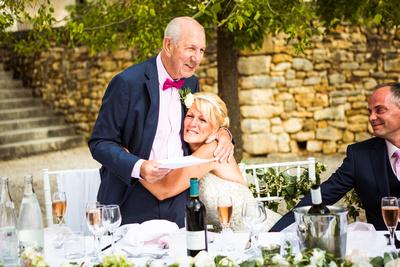 Wedding reception. Father of the bride speech. Documentary wedding photographer