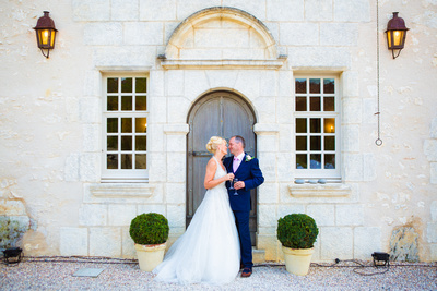 Bride and Groom portrait. Wedding in France