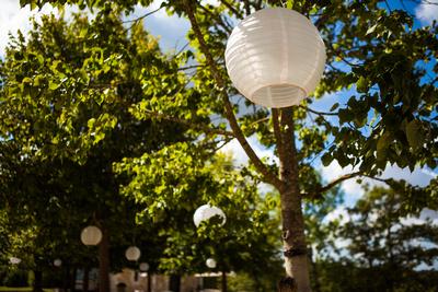 paper lanterns french wedding