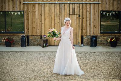 Long Furlong Farm wedding venue - wedding photography style shoot