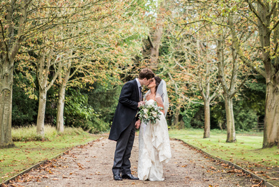 wedding at Ardington House bride and groom