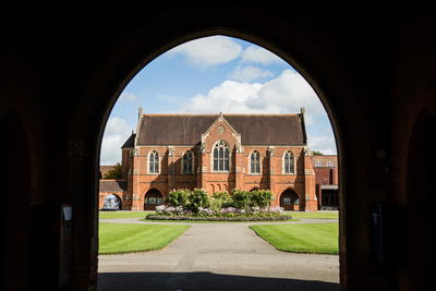 St Edwards School Oxford shot through archway