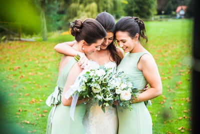 wedding at Ardington House bride and bridesmaids