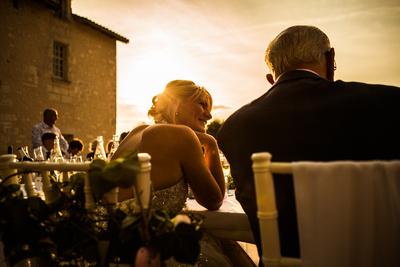 Wedding reception. Bride portrait