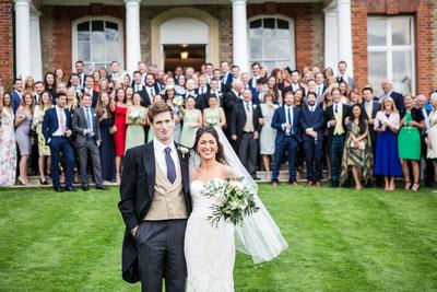 wedding at Ardington House bride and groom