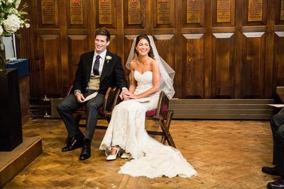 wedding at St Edwards School Oxford in church
