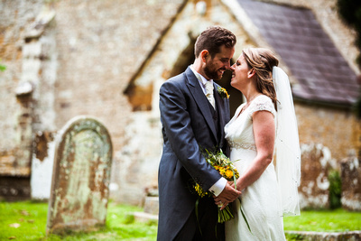 Wedding in Oxfordshire. Bride and Groom Portrait.