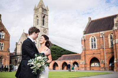 wedding at St Edwards School Oxford couple shot