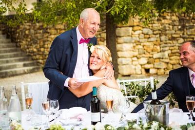 Wedding reception. Father of the bride speech. Documentary wedding photographer